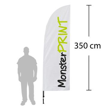 Beachflag - model D, kvalitets beachflag, stort beachflag
