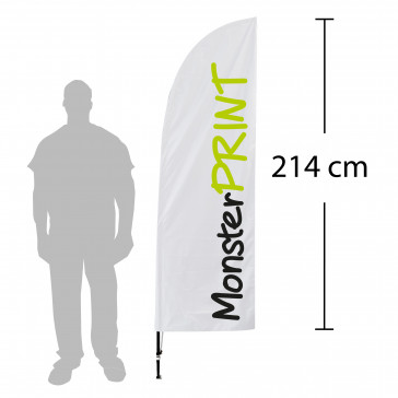 Beachflag - model D, kvalitets beachflag, stort beachflag