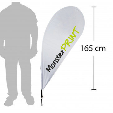 Beachflag - model F, kvalitets beachflag, stort beachflag