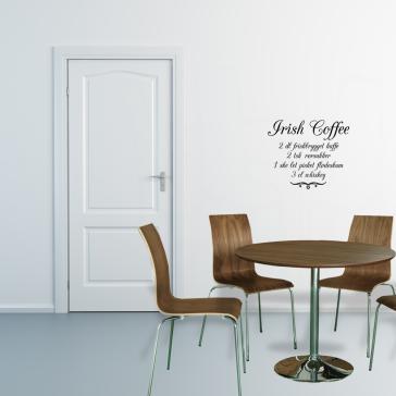 Irish coffe opskrift wallsticker