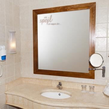 Lille spejl på væggen der wallsticker