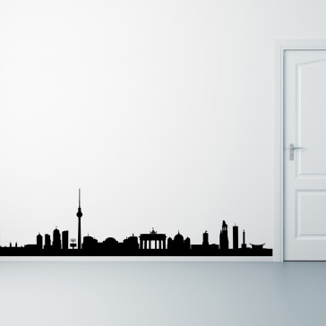 Berlin wallsticker, skyline, Berlin på din væg - Storby - Wallsticker med Berlin - Moderne wallsticker - Bedste kvalitet til laveste pris