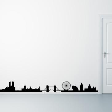 London wallsticker, skyline, London på din væg - Storby - Wallsticker med London - Moderne wallsticker - Bedste kvalitet til lavest pris