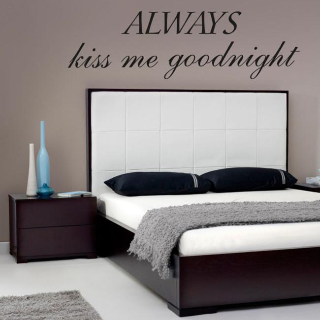 Allways kiss me goodnight kvalitets wallsticker. køb nu
