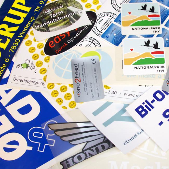 Klistermærker Stickers Og Labels I Høj Kvalitet Til Lave Priser