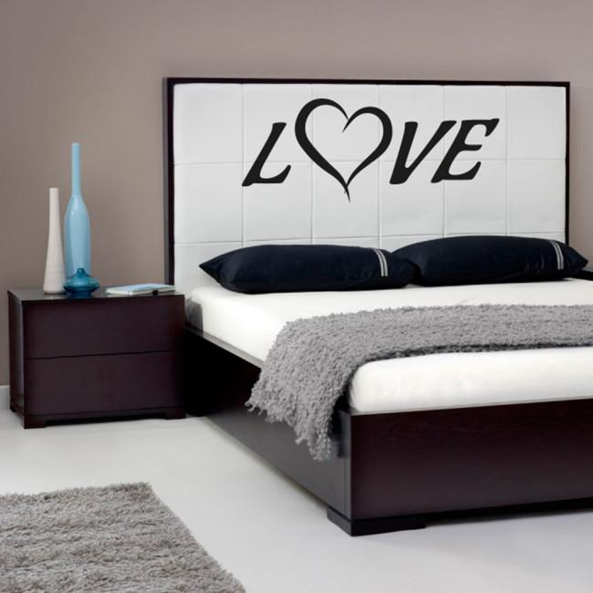 Love wallsticker til væg eller seng. bestem str og farve