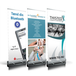 Roll-up, rul op banner, rullebanner, roll-up banner, design selv, messebanner,