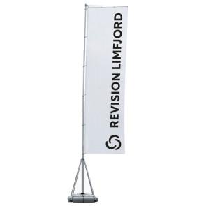 Kæmpeflag med aluben, kæmpe stort beachflag, kæmpe stort reklameflag, reklameflag på stang, flagstang med flag