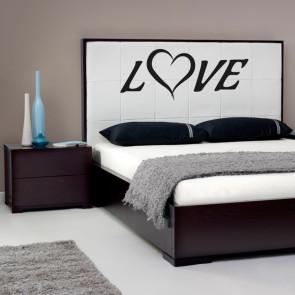 Kærligheds wallsticker - Love wallsticker - Perfekt til soveværelse - Romantisk wallsticker - Bedste kvalitet til laveste pris