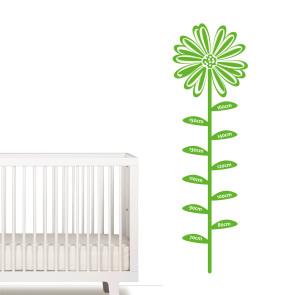 Wallsticker med centimetermål - Wallsticker til børneværelse - Mål barnets højde - Dekorativ og praktisk -