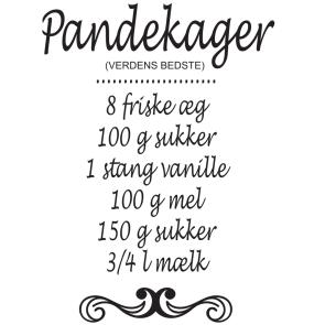 Pandekage-opskrift