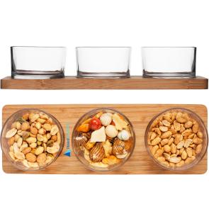 Serveringssæt med glas med logo