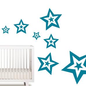 Wallstickers til drenge - Drengeværelse - Wallsticker til børn - Børneværelse - Stjerne wallsticker