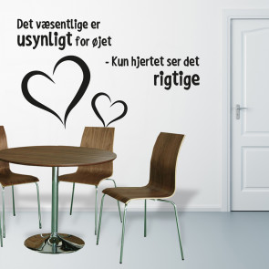 Wallsticker med citat - Romantisk wallsticker - Wallsticker i højeste kvalitet - Wallsticker i dagligstuen - Wallsticker i køkkenet