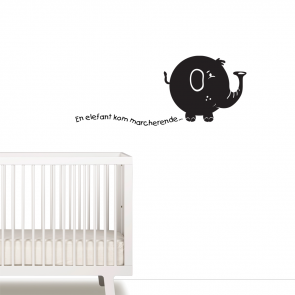 En elefant kom marcherende wallsticker