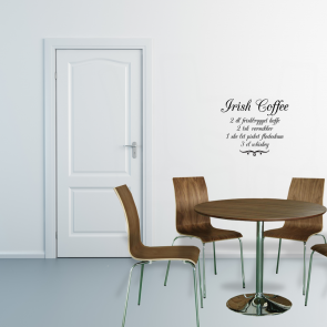 Irish coffe opskrift wallsticker
