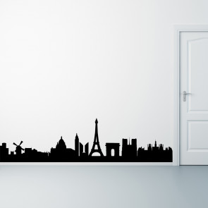 Paris wallsticker, skyline, Paris på din væg - Storby - Wallsticker med Paris - Moderne wallsticker - Bedste kvalitet til laveste pris