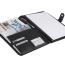 Dokumentmappe med logo og blok, dokumentmappe i skind