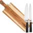Skærebræt med logo, knivsæt med logo