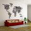 Verdenskort wallsticker, verden wallsticker
