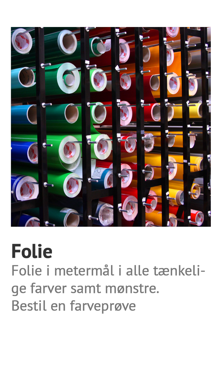Selvklaebende Folie Og Stickers Til Alle Typer Formal