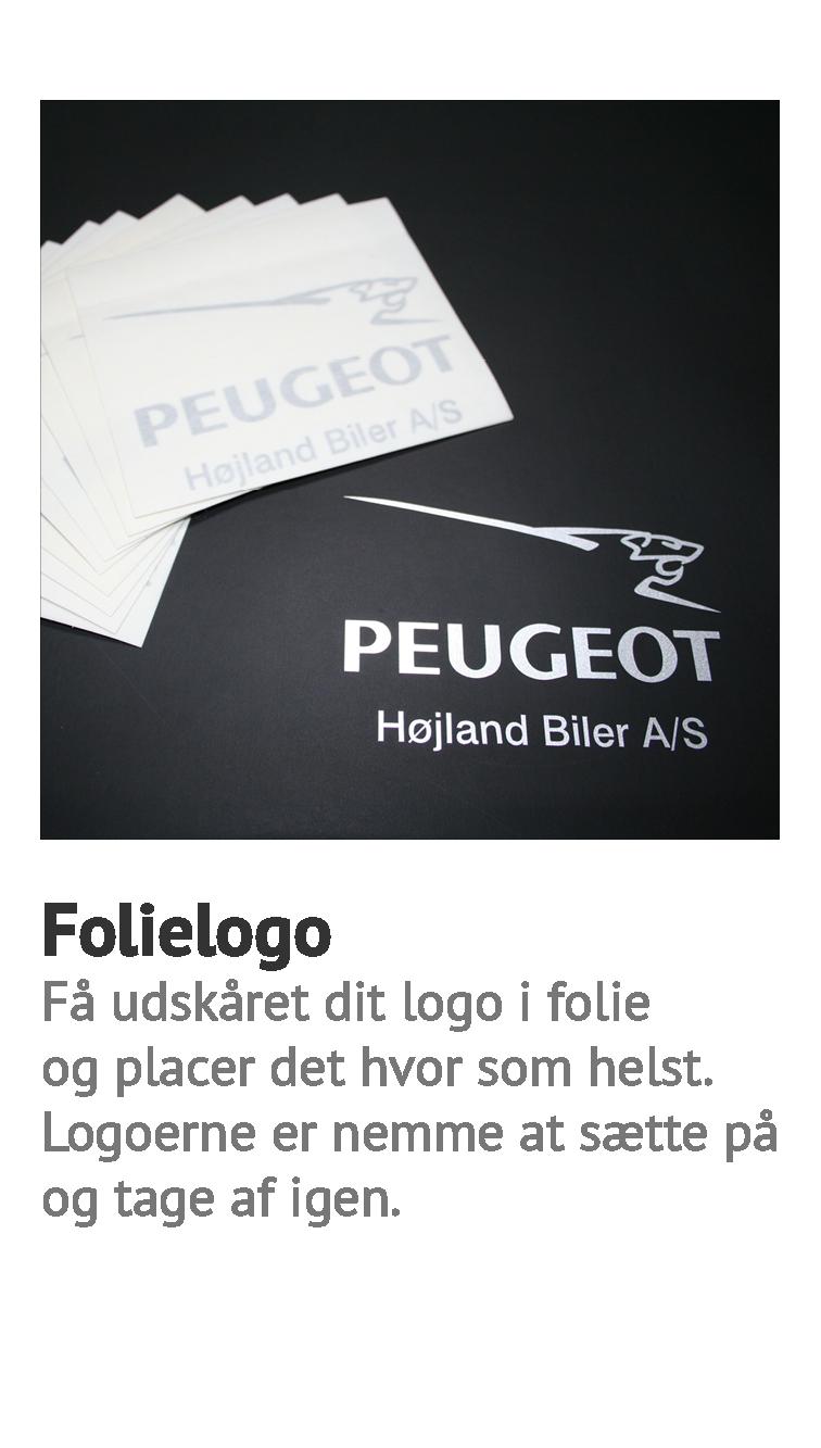 folielogo, logo skåret ud i folie, logo konturskåret